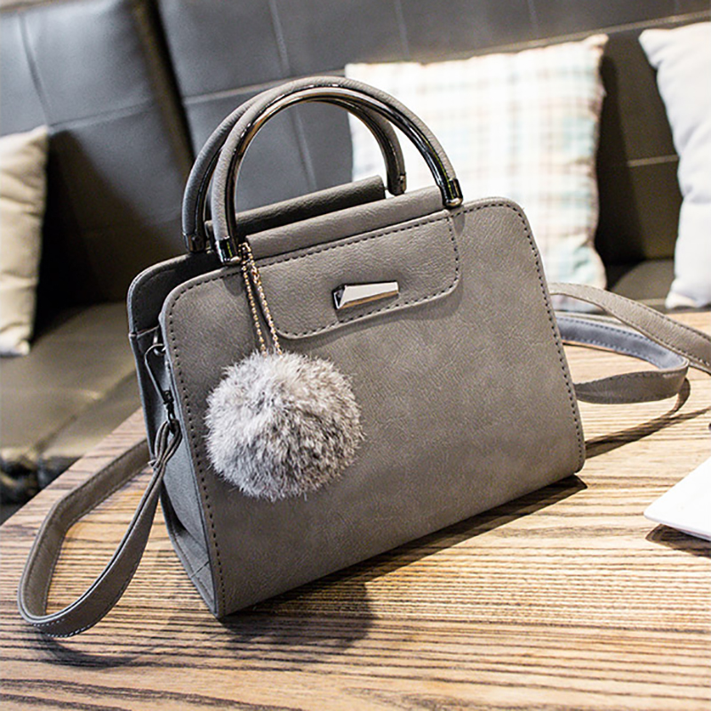 27ec8e1d3917 LUKATU New Women Fashion Leather Handbags Luxury Handbags Female Bags  Designer Hair Ball Iron Shoulder Bag Simple Messenger Bags-in Shoulder Bags  from ...