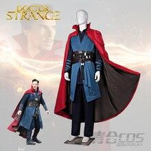 Costume Full Set Robe Jacket Tops Halloween Costumes Free Shipping2016 Marvel Movie Doctor Strange Dr. Strange Steve Cosplay