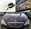 For Ssangyong Kyron 2005-2014 Excellent angel eyes Ultra bright headlight illumination CCFL Angel Eyes kit Halo Ring