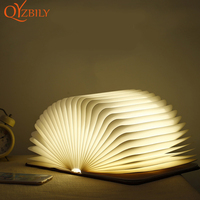 Book led light Six colors foldable wood portable lamp USB booklight reading Mini Table Light Lithium Ion Bedroom Decor Lighting