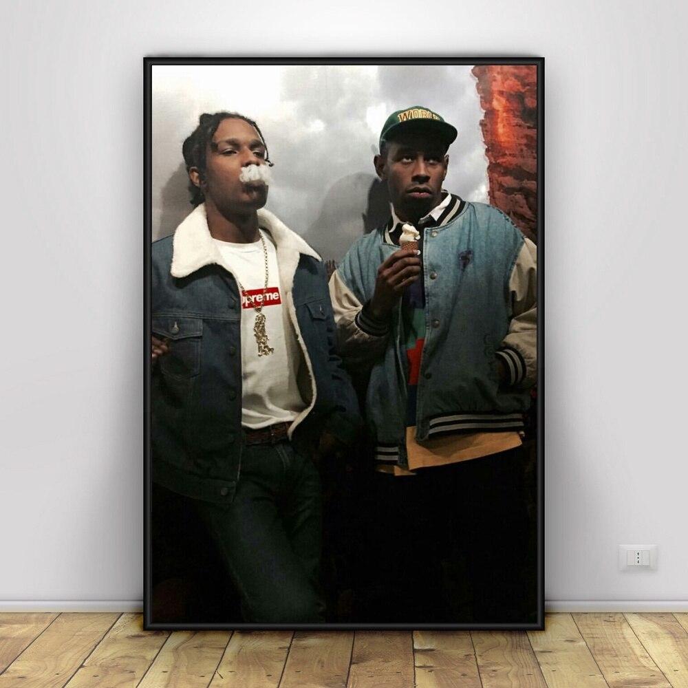 O MAIS CEDO POSSÍVEL Rochoso E Tyler The Creator Art Silk Poster Home Decor 12x18 24x36 polegada
