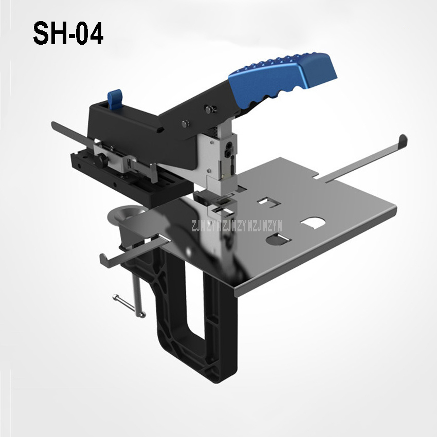 SH-04 Office Hand Operate Manual Stapler Flat/Saddle Stapler Machine Stitcher Staples Binder Menu Paper Book Binding Machine