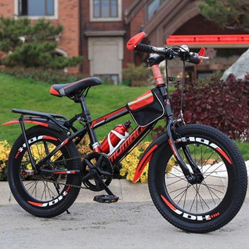18-Inch Mountain Bike For Children Single-Speed Mountain Bike V Brake Bike