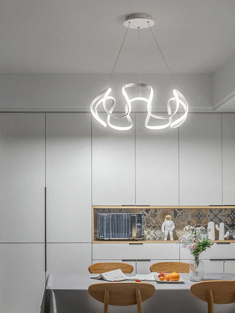 Nordic restaurante lustre moderno e minimalista led vermelho net luz da escada de casa criativa personalidade sala de estar quarto iluminação