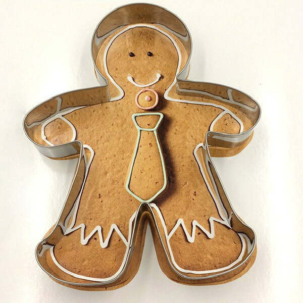Aluminium Alloy Gingerbread Men Shaped Holiday Biscuit Mold Kitchen Cake Decorating Tools 1pcs Christmas Cookie Cutter Tools
