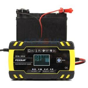 Image 3 - FOXSUR 12V 8A 24V 4A 3 stage Smart Battery Charger, 12V 24V EFB GEL AGM WET Car Battery Charger with LCD display & Desulfator