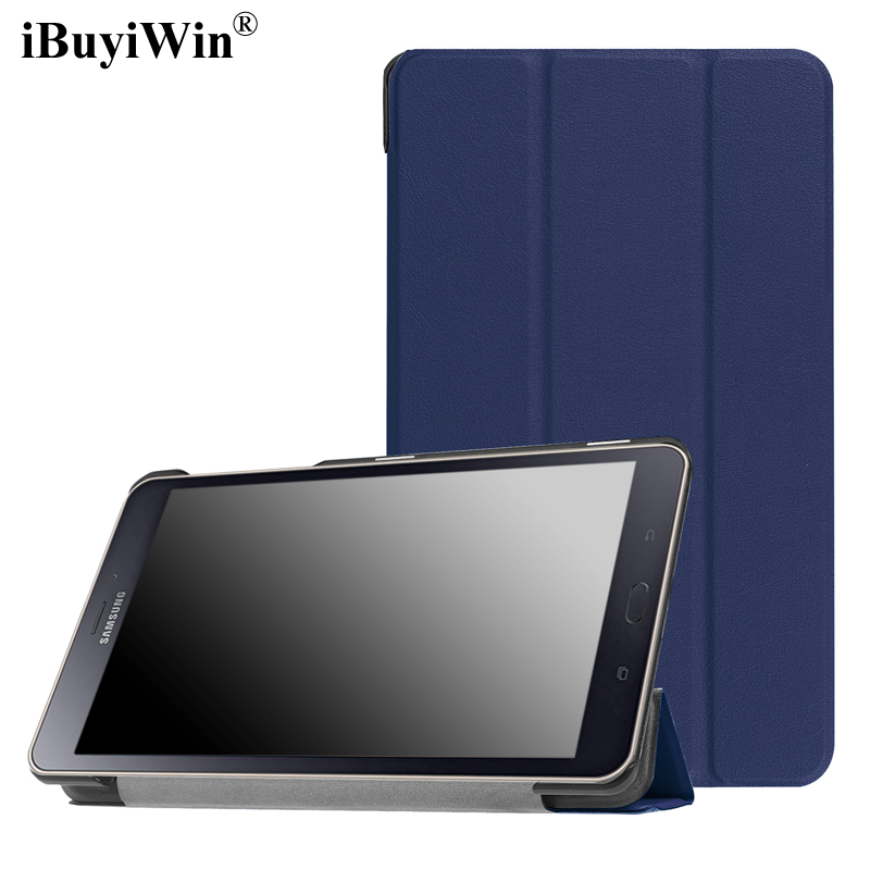 iBuyiWin Case for Samsung Galaxy Tab A 8.0 2017 T380 T385 SM-T385 8 Tablet Case PU Leather Folding Folio Stand Smart Cover+Film cartoon colorful case for samsung galaxy tab a 8 0 t380 sm t385 2017 smart cover funda tablet stand pu leather shell film pen