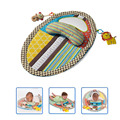 Baby Playpen Play Mat Detachable Changing Mat Infant Toddlers Height Measuring Early Education Toys with Pillow Safety Mirror Fr