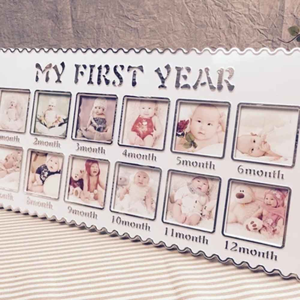 Baby Photo Frame Baby\'s First Year 12 months month Baby Frame set ...