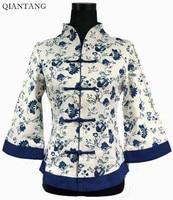 Fashion Spring White Chinese Women's Jacket Linen Cotton Coat Mujer Chaqueta Plus Size S M L XL XXL XXXL 4XL 5XL 2218-2