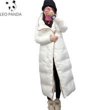 Plus Size Winter Fashion Down Jacket Female Long Hooded New Thicken Warm Casual Overcoat Cocoon Quilt High-quality Parkas LXT727