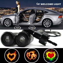 2 X Car Door Light Laser Welcome Ghost Shadow Projector Heart Logo Light for Opel Astra H Insignia Vectra Corsa Antara Zafira стоимость