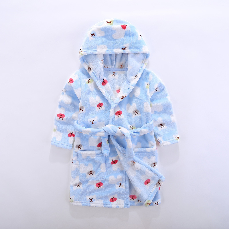 pajamas Children 39 s bathrobe Flannel bathrobe Children wear after sleeping and bathing in Robes from Mother amp Kids