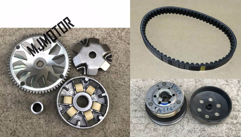 Today 50cc Variator Set with Rollers / Clutch / Drive belt For Motorcycle QJ Keeway Chinese Scooter Honda SDH50QT DIO spare Part