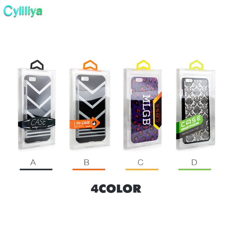 100pcs Blister PVC Plastic Clear Retail Packaging For iphone 8 x 8 plus Customize Packaging Box