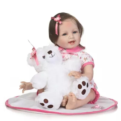 Hotsale 55CM Girl Princess Dolls Soft Silicone Reborn Baby Dolls Alive Newborn Bebe Reborn Doll Play HouseToy Gifts Bonecas 32cm collectible chinese dolls vintage princess doll tang dynasty girl dolls with flexible 12 joints body souvenir gifts