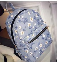 Heiß-verkauf frauen rucksack iris blume mode freizeit pu süße dame taschen