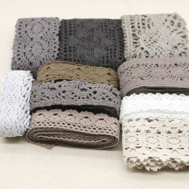 20 yards grau serie gelegentliche anlieferung von baumwolle lace mixed farbe spitze hause zubehör bekleidung DIY materialien