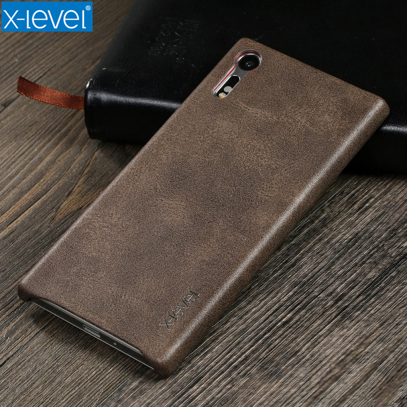 X-Level Cases For Sony Xperia XZ Plain PU Vintage Phone Case