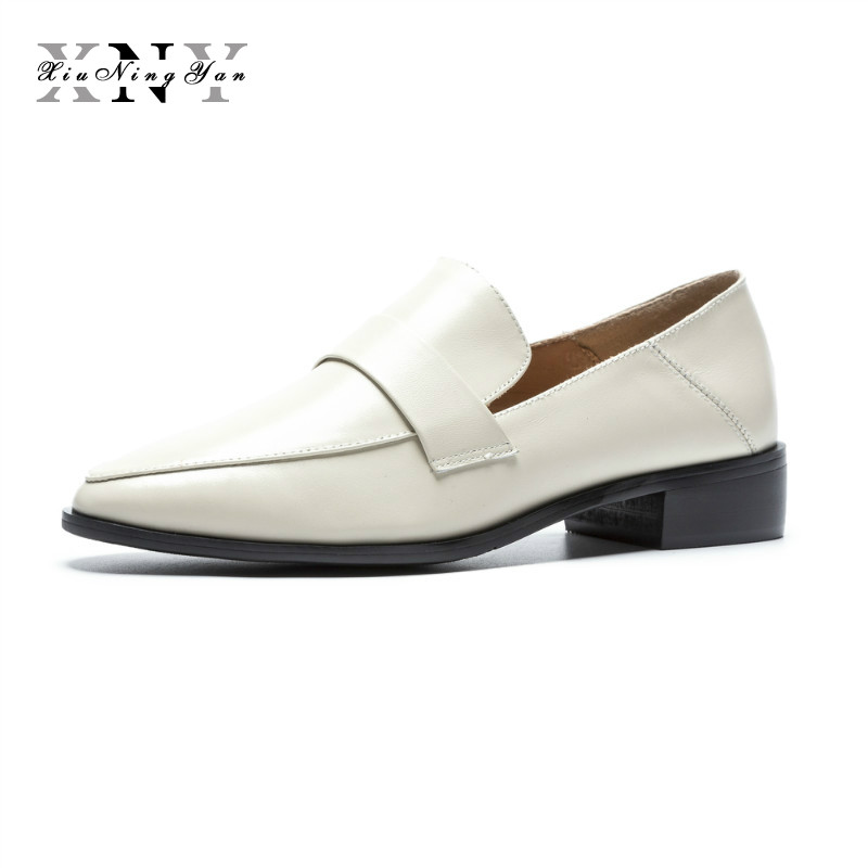 XiuNingYan Women Flat Shoes Soft Genuine Leather Slip on Casual Shoes Tenis Feminino Handmade Loafers Shoes Woman Basic Flats wolf who genuine leather women shoes ladies spring krasovki slipony slip on loafers woman tenis feminino casual h 049