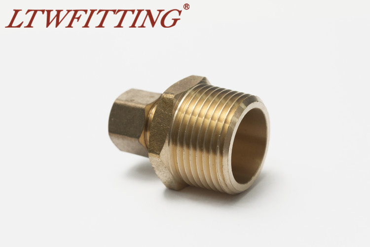 LTWFITTING Brass 3//8 OD x 3//8 Male NPT Compression Connector Fitting Pack of 25