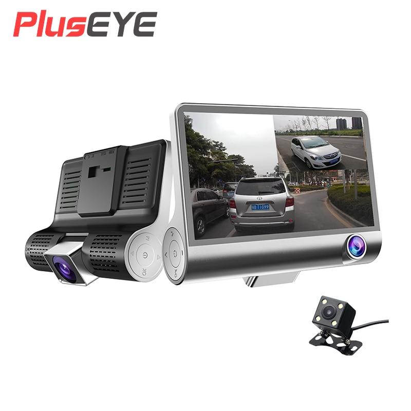 2017 New 4.0 Car DVR Camera Dual Lens with Rear view camera three camera Night vision Car DVRs Video registratori auto dashcam