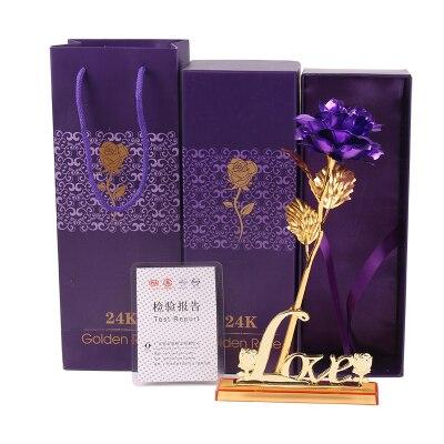 Valentine'i kingitus, 24k kuldne roosi väljavalitu lill + armastuse - Pühad ja peod - Foto 5