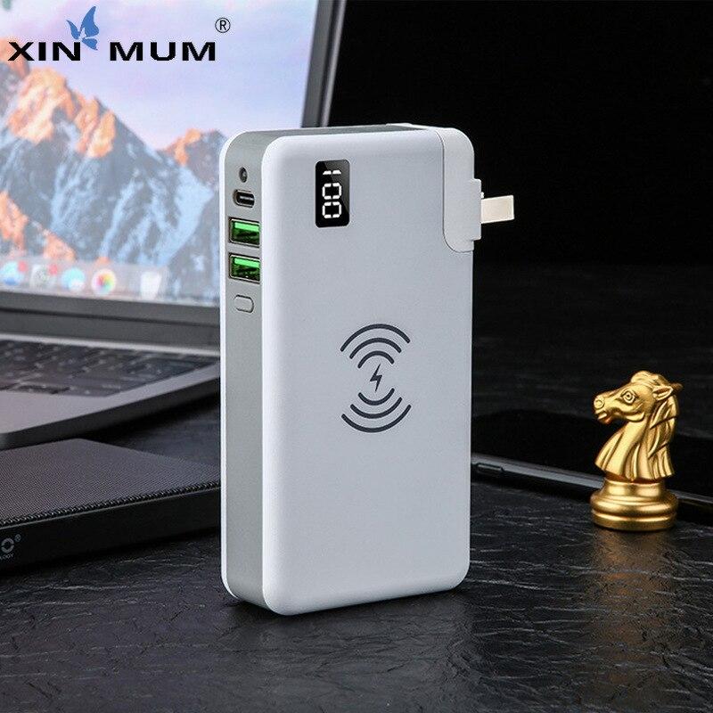 Qi chargeur rapide sans fil pour iPhone Samsung Xiaomi Huawei etc 10000 mah batterie externe double Usb chargeur mural type-c PD 18 W Powerbank