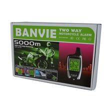100% OEM von SPY 5000m 2 Weg Anti diebstahl Motorrad sicherheit alarm system mit zwei LCD sender fernbedienung motor starten