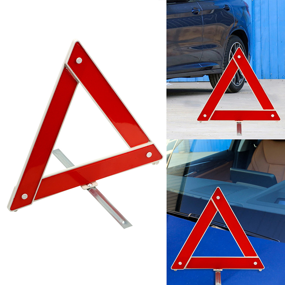 Car Vehicle Emergency Breakdown Warning Sign Triangle Reflective Road Safety foldable Reflective Road Safety red Panda