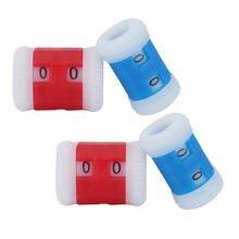 4 шт. прочный тип мини пластиковая игла вязание крючком счетчик рядов круглый счетчик стежков маркер