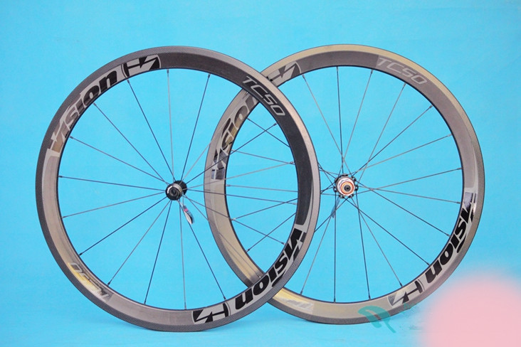 Factory sale 50mm full carbon wheelset clincher bike wheels 700c road bicycle carbon wheel Disc brake wheels 50mm carbon disc brake bicycle wheel set 700c 25mm carbon 38mm clincher wheelset for secure riding made in amoy trading company