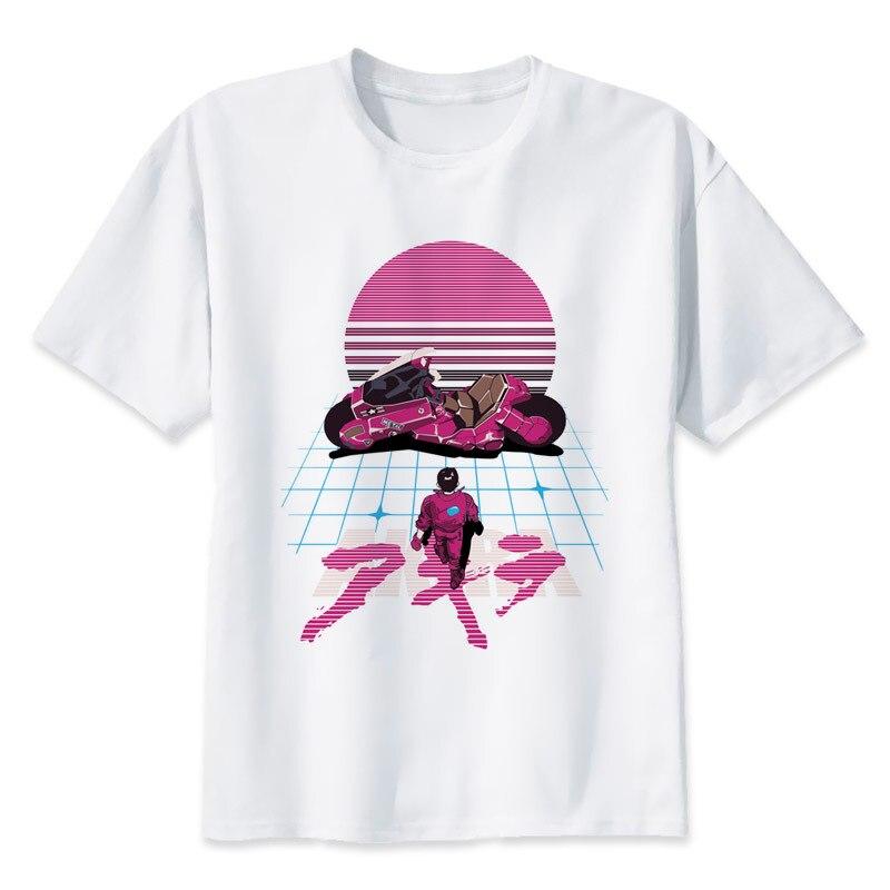 Akira Synthwave T-Shirt men 2017 Summer s