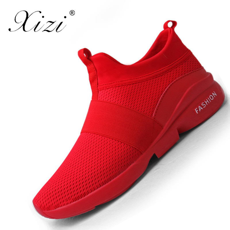 Xizi 2018 Summer Men Shoes Breathable Slip-On Sneakers Running Shoes Comfortable Sport Sneakers Shoes Plus Size 39-46 Zapatillas summer style somix ultralight damping running shoes for men free run sneakers 2017 slip on breathable blade soles sport shoes