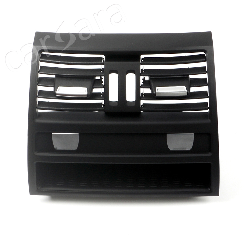 Rear row air vent outlet grill panel for BMW 5 Series F10 F18 low end without chrome plate with electro-thermal switch 9pcs aluminium alloy dashboar console central air conditioner outlet vent cover trim for ford mustang 2015 2016 2017