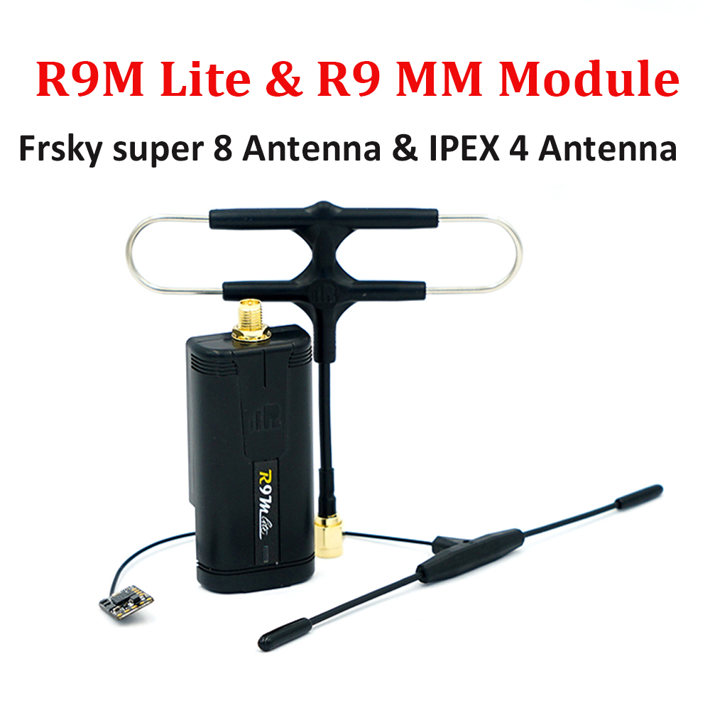 Système longue portée FrSky Module R9M Lite et récepteur R9 MM R9MM Super 8 antenne IPEX 4 ensemble