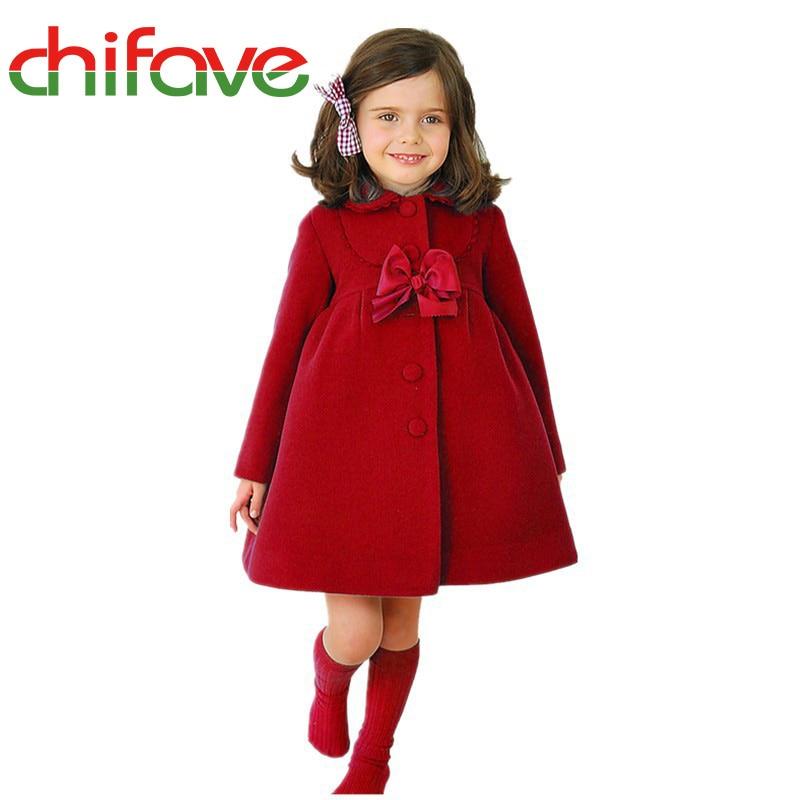 2017 Fashion Children Girls Long Jacket Kids Warm Winter Coat Girl ...