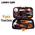 LOMVUM 9 шт. инструменты ручные инструменты бытовой многофункциональный аппаратный инструмент разборка Ремонтный комплект коробка портативн...