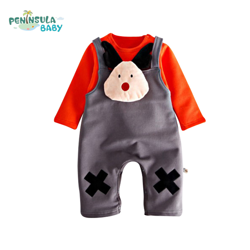 Fashion Brand Newborn Baby Overalls Long Sleeves Baby Girls Boys Rompers Tops+Pants 2PCS Infant Jumpsuit For Baby Clothes Set 2 pcs lot newborn baby girls clothing set cute pink cotton baby rompers boys jumpsuit roupas de infantil overalls coveralls