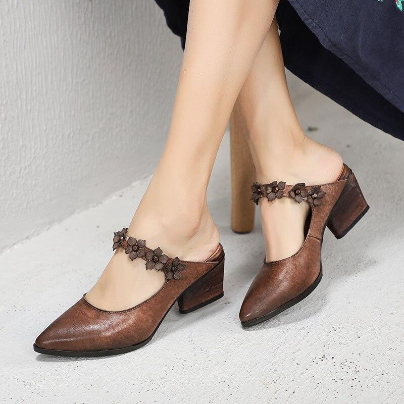 Plastique Sandales Zandalias Mujer Cool Sandale Tongs De 2019 À Hauts Épais D'été Hing Pointu Talons Coffee En Chaussures Femmes Bout Verano BwqAfZYn