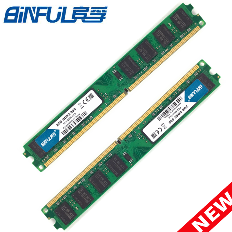 BiNFUL PC Memory RAM Memoria Module Computer Desktop DDR2 2X2GB 4GB PC2 5300 6400 667MHZ800MHZ 2GB 2G Full compatibility RAM цена