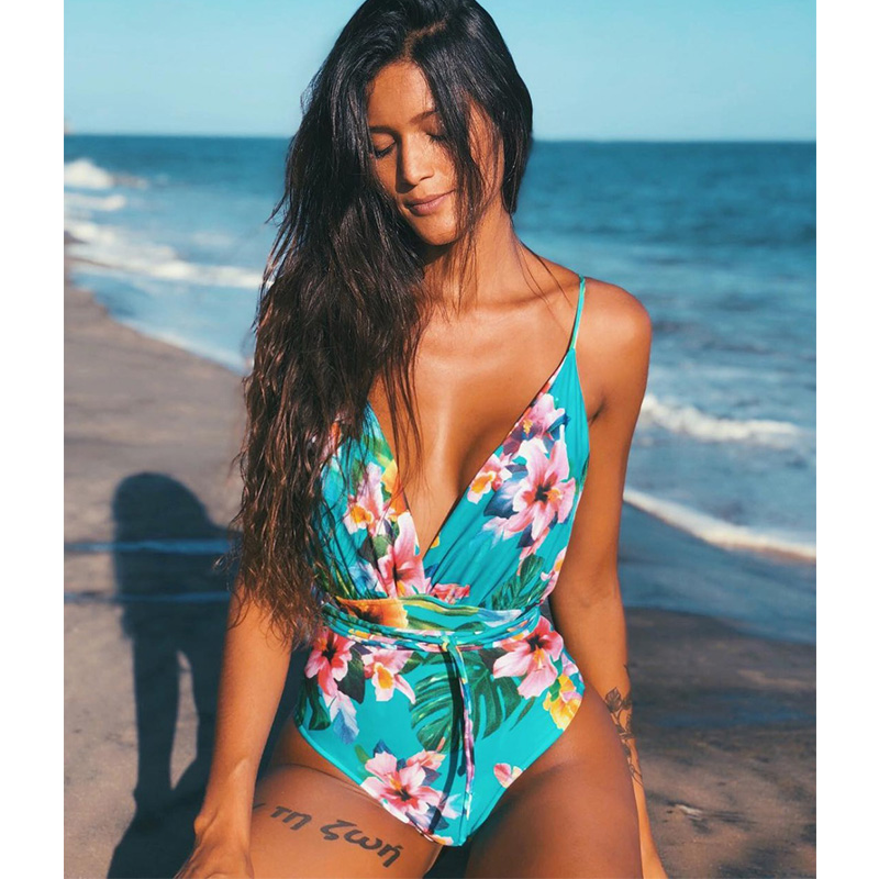 New 2019 Sexy One Piece Swimsuit Female Backless Bodysuit Brazilian Monokini Swimwear Women Bathing Suit Swimming Beach Wear(China)
