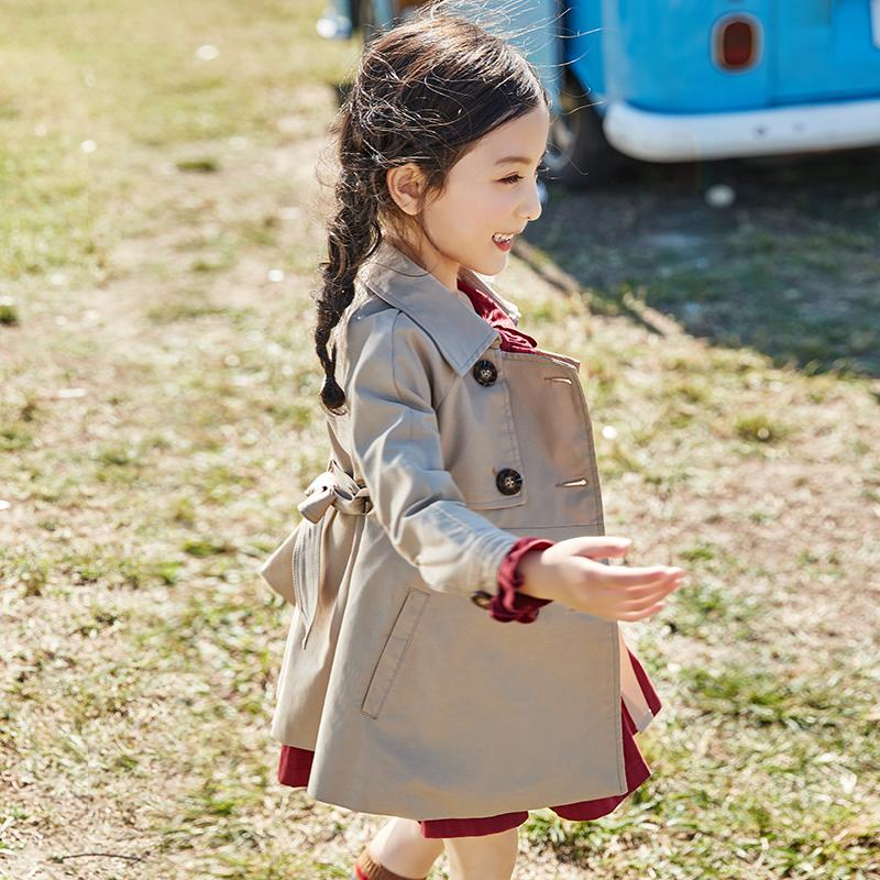 Baby Girls Trench Coats 2019 Spring New Windbreaker Jacket Double Breasted Long Sleeve Toddler Children Outerwear Kids Coat Y629Baby Girls Trench Coats 2019 Spring New Windbreaker Jacket Double Breasted Long Sleeve Toddler Children Outerwear Kids Coat Y629