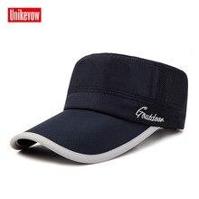 Бренд Unikevow военные шапки отрегулированные быстросохнущие сетчатые бейсболки с плоским верхом для мужчин и женщин Militaire gorra