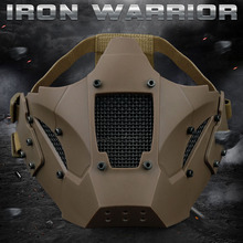 WosporT Tactical Airsoft Paintball Lisävarusteet Iron Warrior Mack Half Face Mask Käytä Nopeaa Helmet Military CS-ammunta