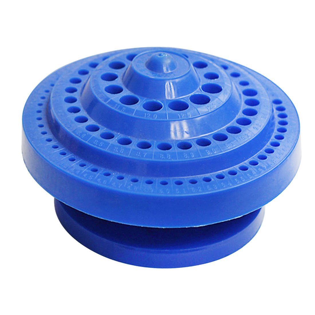 New 1pcs Round Shape Plastic Hard 100pcs 1-13mm Drill Bit Storage Case Blue