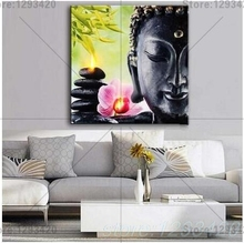 Buddha orchid stone 5d Diamond mosaic Diy diamond painting cross stitch embroidery religiou icons full square rhinestone