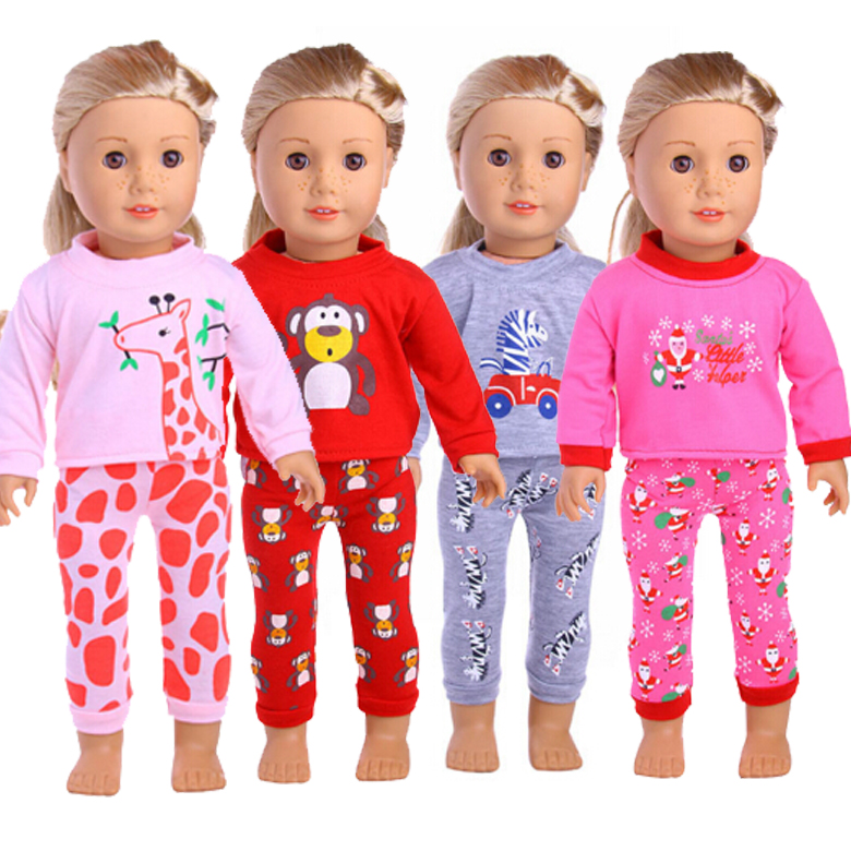 18 inch American Girl Doll Sweater shirt and pants for 43cm Baby Born zapf doll play house cloth set rose christmas gift 18 inch american girl doll swim clothes dress also fit for 43cm baby born zapf dolls