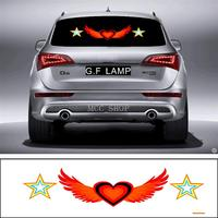90*25cm Star angel Flash Car Sticker Music Rhythm LED EL Sheet Light Lamp Sound Music Activated Equalizer