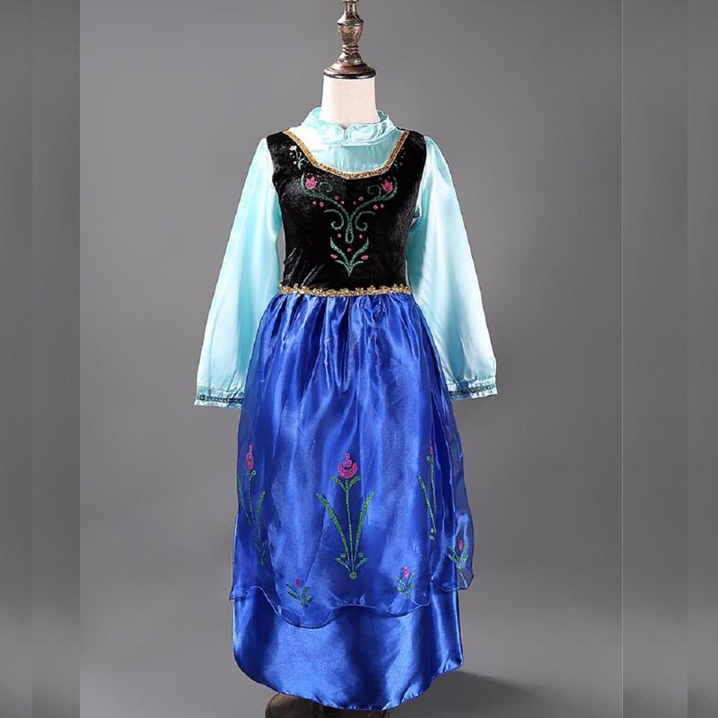 2015-top-quality-baby-toddler-girl-dress-princess-vestidos-infantis-congelados-anna-elsa-fever-dress-diamond (5)